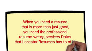 Resume Services Dallas Video Dailymotion