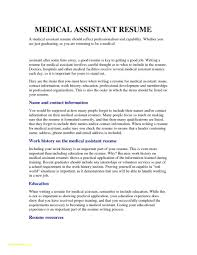 Entry Level Medical Assistant Resume Examples Luxury Entry Level Medical Assistant Resume Examples Professional 4