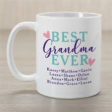 best grandma ever mug personalized gifts for grandma