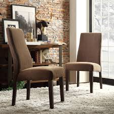 With the comfortable cushioning and simplistic design of the wave back and  legs, this Kiess parson chair set is ideal for your dining area or any room  as an ...