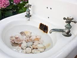 create a birdbath from a salvaged sink