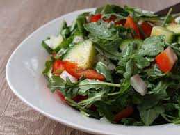 my favorite salad with only 77 calories includes arugula cuber red pepper