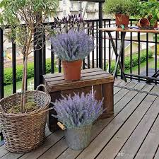 diy garden office. Artificial Fake Flocked Lavender Bouquet In Purple Flowers Arrangements Bridal Home DIY Floor Garden Office Wedding Diy