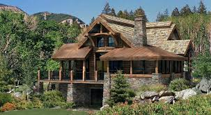 mountainside home plans log home floor plan a log home for the great outdoors