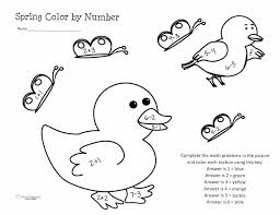 Spring Color By Number Worksheet | Squarehead Teachers