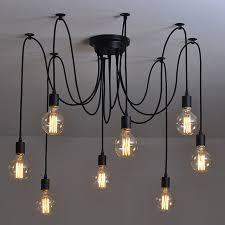 modern nordic retro edison bulb light chandelier vintage loft intended for design 5
