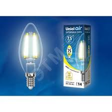<b>LED</b>-<b>C35</b>-<b>7</b>,<b>5W</b>/<b>WW</b>/<b>E14</b>/<b>CL</b> GLA01TR <b>Лампа</b> светодиодная ...