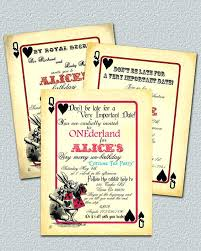 Vintage Invitation Template Delectable Alice In Wonderland Wedding Invitations In Wonderland Invitation