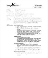 Job Descriptions For Teachers Revive210618 Com