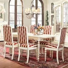 Essgruppe Lion Ausziehbarer Esstisch 6 Stühle Weiß Mit Goldener Patina