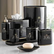 Small Picture Gold and Black Luxury Bath Accessory Sets