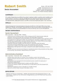 resume format for experienced accountant senior accountant resume samples qwikresume