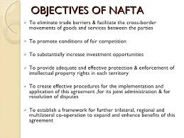 north american trade agreement  4 objectives of nafta