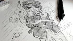 しみんイラストシャーペン1本で自縛少年花子くん描いてみた