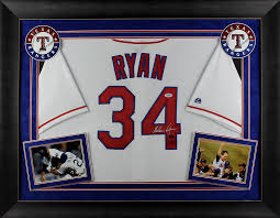 Jersey Ryan Framed Signed Nolan