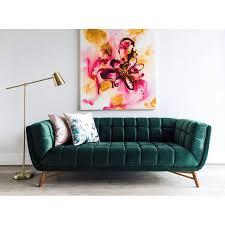 modern chesterfield sofa. Exellent Chesterfield Clarisse MidCentury Modern Chesterfield Sofa For H