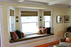 Window seat furniture Large Window Bay Oxypixelcom Bay Window Pillows Furniture Enchanting Ideas For Window Seat