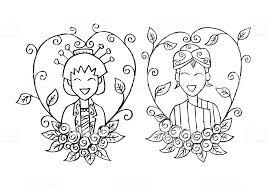 Couple Central Java Wedding Invitation Stock Illustration Download