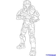 Small Picture Halo Characters Coloring Pages Virtrencom