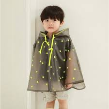 NewArrival Top Fashion Fluorescence <b>rain jacket</b> Thick batwing <b>kids</b> ...