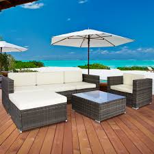 9bb2fd8c7478 1 Patio Furniture Sectional 6pc Outdoor Garden Wicker Outdoor Patio Furniture Sectionals