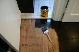 Black Floor Stain  Samuel U0026 PandoraStaining Hardwood Floors Black