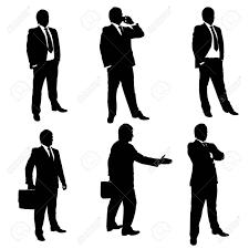 Businessmans の Deifferent 男性人物のシルエットのイラスト