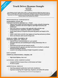 8 Cdl Truck Driver Resume Sample Weekly Template