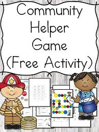 Our Community Helpers Chart Community Helper Game And Lesson Ideas For Kindergarten