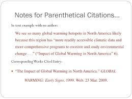 Ppt In Text Citations And Works Cited Powerpoint Presentation Id