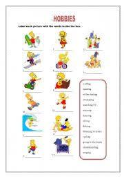 hobbies for kids. english worksheet: hobbies hobbies for kids
