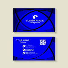Blue Business Card Background Free Download Wisxi Com