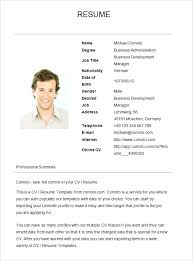 Examples Of Simple Resumes Mesmerizing Basic Resume Samples Resume Format Latest Templates In Word Within