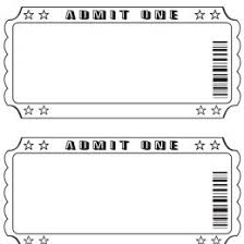 Play Ticket Template Printable Tickets Free Free Printable Admit One Ticket Templates