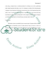 Four Components Of An Information System Essay Example