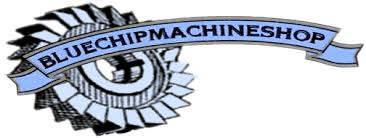 machine shop logo. blue chip machine shop logo