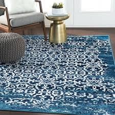 tours navy damask area rug overdyed rugs