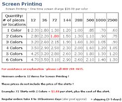 Screen Printing Prices Sale Up To 42 Discounts