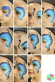 side erfly face painting instructions