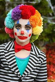 diy clown make up makeup ideas easy makeup colorful wig