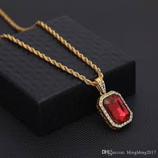 ruby necklace mens best of whole mens mini ruby pendant necklace gold hip hop cuban link ruby necklace mens