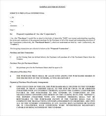 free printable letter of intent template share purchase download purchaser cover letter