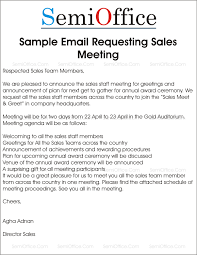 Meet And Greet Meeting Agenda Sample Letter Requesting Sales Meeting And Greetings