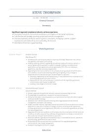 General Counsel Resume Samples Templates Visualcv