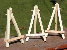 Painting Display Stands MINIATURE EASEL Painting Display Art Display Wooden Easel 3