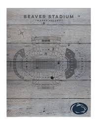 Penn State Beaver Stadium Wooden Seating Chart Souvenirs