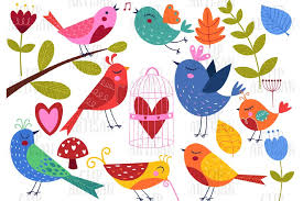 Sell custom creations to people who love your style. Pretty Birds Clipart Love Birds Vantines 382582 Illustrations Design Bundles
