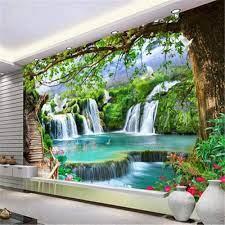 Photo Wallpaper 3D Nature Green Tree ...