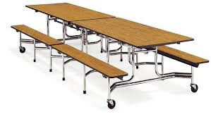 school lunch table. Mobile Bench Cafeteria Table (12\u0027 L X 27\ School Lunch
