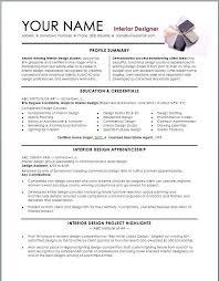 Resume Examples Interior Design Resume Examples Interior